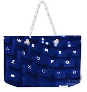 Blue Warped Keyboard Weekender Tote Bag