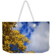 Blue White And Gold Weekender Tote Bag
