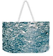 Blue White Water Bubbles In A Pool Weekender Tote Bag