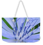 Blue Wild Flower Weekender Tote Bag