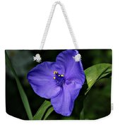 Blue Wildflower 6 Weekender Tote Bag