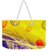 Blue Yellow Red Weekender Tote Bag