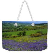 Bluebell Flowers On A Landscape, County Weekender Tote Bag