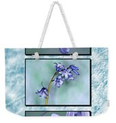 Bluebell Triptych Weekender Tote Bag