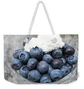 Blueberries And Cottage Cheese Weekender Tote Bag