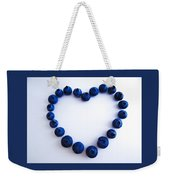 Blueberry Heart Weekender Tote Bag by Julia Wilcox