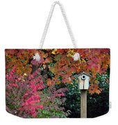 Bluebird House Color Surround Weekender Tote Bag