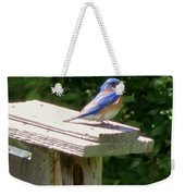 Bluebirds Make Me Happy Weekender Tote Bag