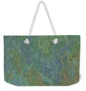 Bluegreen Stone Abstract Weekender Tote Bag
