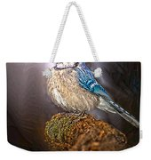 Bluejay In Spotlight Weekender Tote Bag