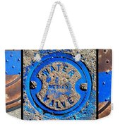 Bluer Sewer Triptych Weekender Tote Bag