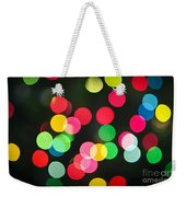 Blurred Christmas Lights Weekender Tote Bag