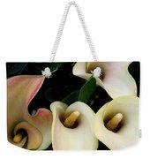 Blushing Calla Lilies Weekender Tote Bag