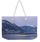 Boat And Alps Weekender Tote Bag