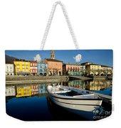 Boat And Village Weekender Tote Bag