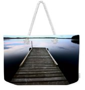Boat Dock At Smallfish Lake In Scenic Saskatchewan Weekender Tote Bag