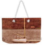 Boat Docked On The River Weekender Tote Bag