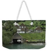Boat House On A Mountain Slope On The Shore Of Lake Lucerne In Switzerland Weekender Tote Bag