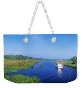 Boat In The River, Shannon-erne Weekender Tote Bag