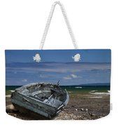 Boat Lying Shipwrecked On A Lake Michigan Shore Weekender Tote Bag