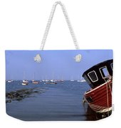 Boat Moored In The Sea, Strangford Weekender Tote Bag
