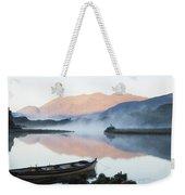 Boat On A Tranquil Lake Killarney Weekender Tote Bag