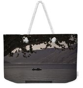 boat on the Lago Maggiore Weekender Tote Bag