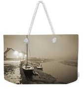 Boat On Wintry Quay Weekender Tote Bag