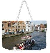 Boat Tours In Brugge Belgium Weekender Tote Bag