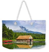 Boathouse On Mountain Lake Weekender Tote Bag