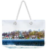 Boathouse Row From Fairmount Dam Weekender Tote Bag