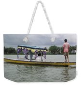 Boatman Taking A Couple Out On A Shikhara Weekender Tote Bag