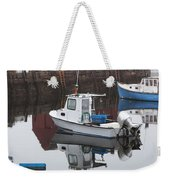 Boats At Rockport Harbor Weekender Tote Bag