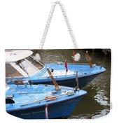 Boats In Amsterdam. Holland Weekender Tote Bag