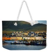 Boats In Harbor By Waterfront Village Weekender Tote Bag