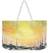 Boats In The Harbor Weekender Tote Bag by Jill Battaglia