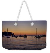 Boats On The Adriatic Sea Weekender Tote Bag