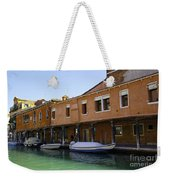Boats On The Canal - Venice Weekender Tote Bag