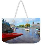 Boats On The Garavogue Weekender Tote Bag