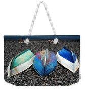 Boats On The Shingle Weekender Tote Bag