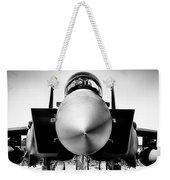 Boeing F-15sg Eagle Black And White Weekender Tote Bag