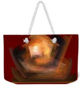 Bold Shapes On Red Weekender Tote Bag