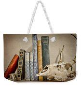 Bone Collector Library Weekender Tote Bag by Heather Applegate