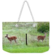 Bookend Twin Bucks Weekender Tote Bag