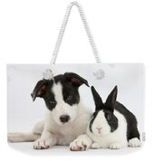 Border Collie Pup And Dutch Rabbit Weekender Tote Bag