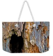 Bored By Woodpeckers Feeding Weekender Tote Bag