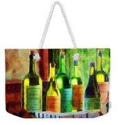 Bottles Of Wine Near Window Weekender Tote Bag