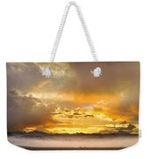 Boulder Colorado Flagstaff Fire Sunset View Weekender Tote Bag