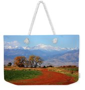 Boulder County Colorado Landscape Red Road Autumn View Weekender Tote Bag
