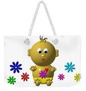 Bouncing Baby Girl With 7 Flowers Weekender Tote Bag